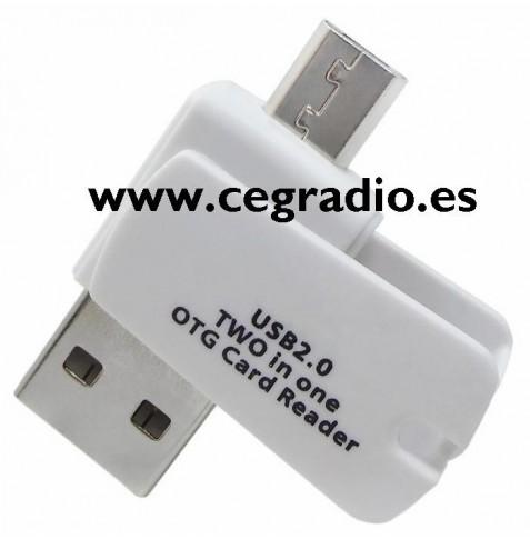 Adaptador MicroSD a Micro USB OTG