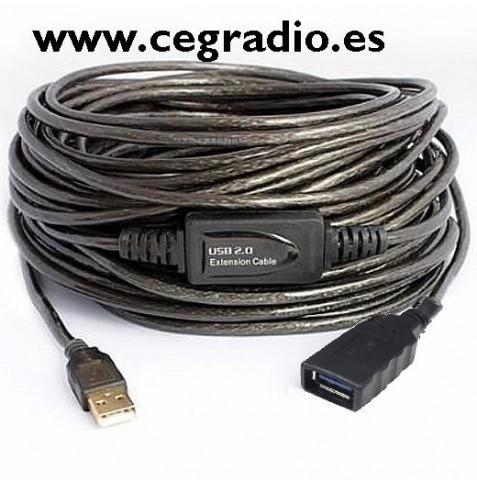 Cable Alargador USB a USB 15 metros
