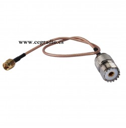 Cable SMA Macho a PL259 Hembra Vista Completa