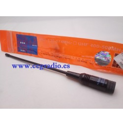 Antena NA-701 SMA Macho VHF UHF Dual Band