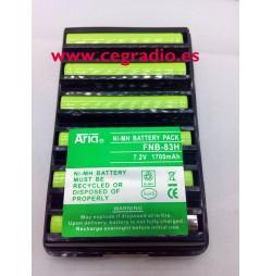 Batería Aria FNB-83H Yaesu Vertex VX-110 VX-120 FT-60 VX-246 Vista Vertical