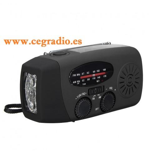 Flashlight Radio Solar Dinamo