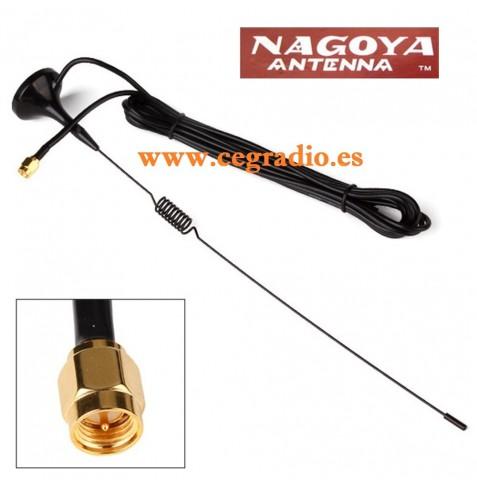 Antena NAGOYA UT108 SMA Macho VHF UHF Vista General