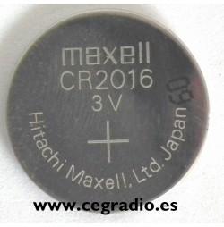 Pila Botón Litio Maxell CR2016
