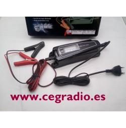 cargador batería de coche moto LCD Vista Completa