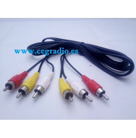 2M Cable 3 RCA macho Audio Video