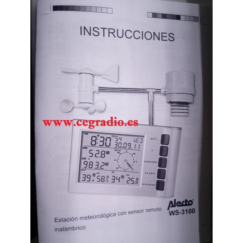8bb247626 Estación meteorológica digital profesional WS3100WT