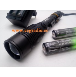 Linterna Zoomable Cree XM-L T6 1500 Lm