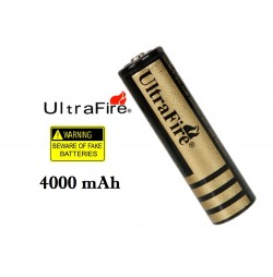 Bateria Litio UltraFire 18650 4000mAh 3.7V