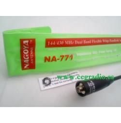 Nagoya NA-771 Antena Doble Banda portátil SMA hembra
