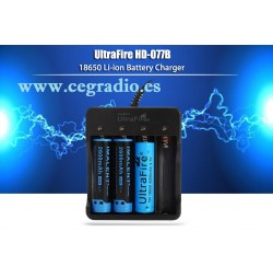 UltraFire HD-077B Cargador de 4 Baterías 18650 litio