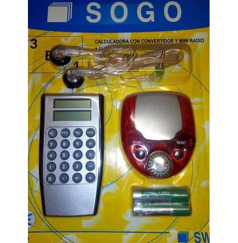 Sogo Pack calculadora radio FM