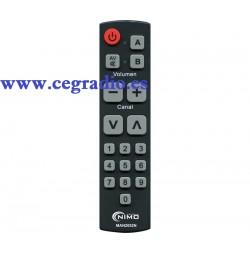 Seki Mando Universal TV Teclas Grandes Vista Frontal
