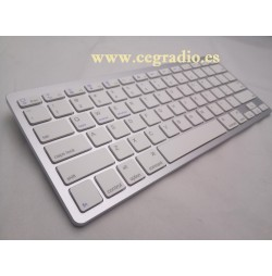 Teclado de aluminio Bluetooth Vista Lateral