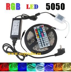 Tira Led RGB 5050 Multicolor 5 m + Mando + Alimentador