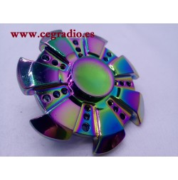 Spinner Redondo Multicolor Aleación de Zinc Brillante