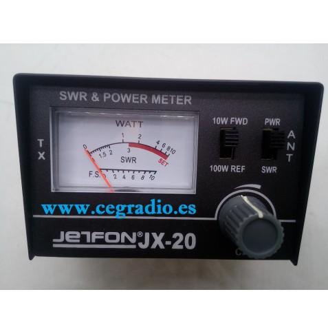 Medidor Jetfon JX 20 CB 27Mhz Vista Frontal