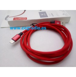 1,8 m Cable Trenzado Rojo Baseus de Carga y Datos iPhone 5-6-7