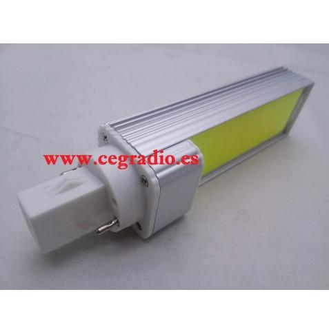 G24 bombilla LED COB 9W Blanco Puro