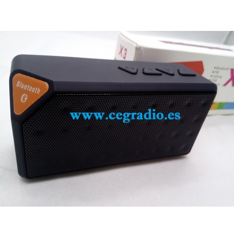 X3 Mini Altavoz Bluetooth USB FM Radio