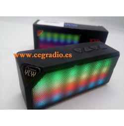 Altavoz Bluetooth YCYY X3S LED