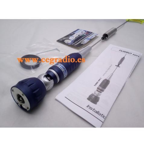 SIRIO Turbo 800 PL Antena Movil CB 27 Mhz Vista Lateral