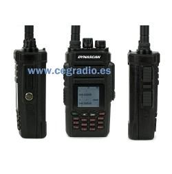 DYNASCAN DB78W VHF UHF BIBANDA Vista Frontal Lateral