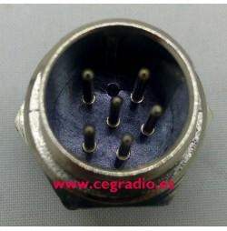 Conector Micro Macho 6 Pins Chasis