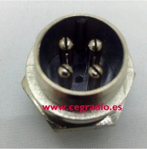 Conector Macho Chasis Micro 4 Pins