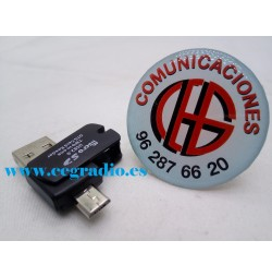 2 en 1 lector de tarjetas Micro SD con OTG USB 2.0