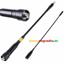 HARVEST NA-999DX Antena Portatil Bibanda VHF UHF SMA Hembra Vista General