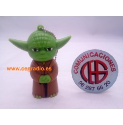 Memoria USB 8GB STARS WARS JODA Vista Frontal