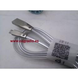 HOCO U9 Cable USB Micro USB Aleación Zinc Plata Carga Datos Vista Conectores