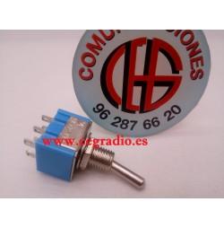 AC 125V 6A Conmutador Doble de Palanca 13 X 12.8 X 10mm