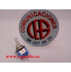 Conmutador miniatura de palanca AC 125V 3A