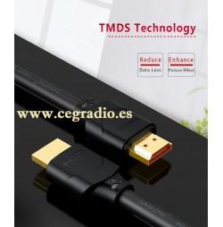 SAMZHE Cable HDMI chapado en Oro 4K de Ultra Alta Resolución