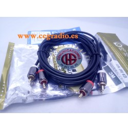 3m Dorewin Cable Audio Doble RCA Macho a Doble RCA Macho