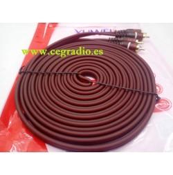 5m Cable de cobre libre de oxígeno Doble RCA Macho
