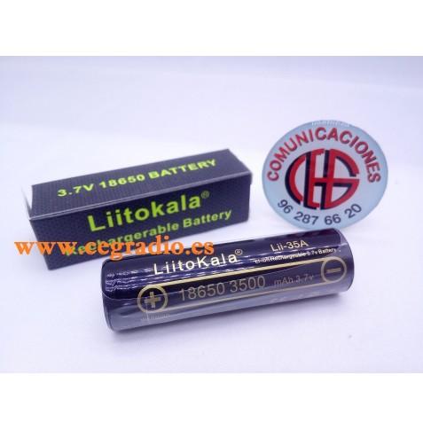 LiitoKala 3.7 V 18650 3500 mAh Batería Recargable Litio