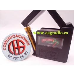 Comprobador Universal de Baterías y pilas AA, AAA, 9 V, Botón