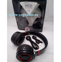 Auriculares Inalambricos Microfono Radio FM Bluetooth 4.0 Vista General