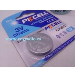 PKCELL Pila Boton de Litio 3 V 220 mAh CR2032