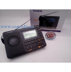 TIVDIO Receptor Radio FM/AM/SW MP3 Grabadora Vista General