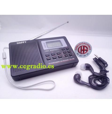VBESTLIFE Radio Receptor Portátil FM-AM-SW-LW de Banda Ancha