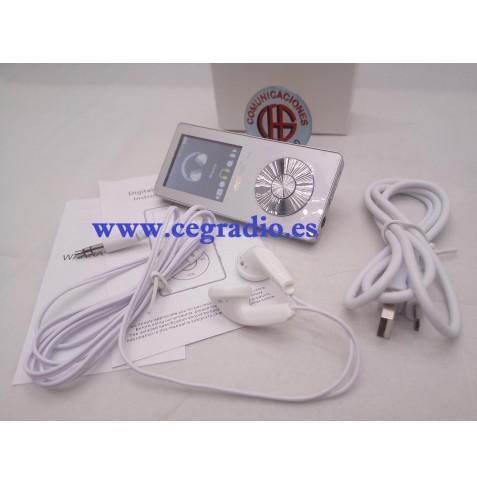 Reproductor MP3 Vídeo Radio FM HIFI Grabadora de 8GB