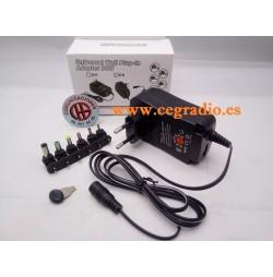 Alimentador Universal Regulable AC-DC 30 W 3 V-12 V y puerto USB 5 V 2.1A Vista Completa