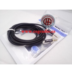 VOXLINK 2m Cable de Audio Jack 3.5mm Macho a macho Chapado En Oro