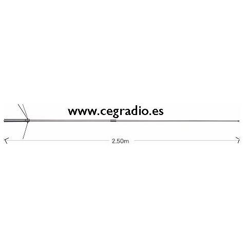 Antena de Base UHF/VHF Diamond X200