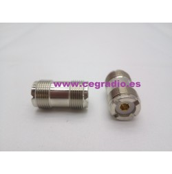Conector Adaptador PL259 Doble Hembra Vista General