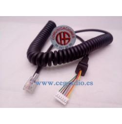 Cable Micrófono de Reemplazo Para YAESU MH-48A6J FT-8800R FT-8900R
